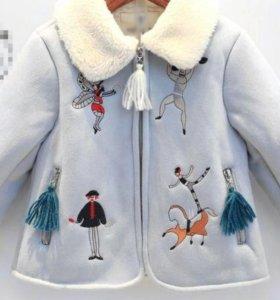 Пальто для девочки 2-3 года