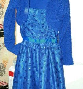 Синее платье детское