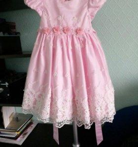 Шикарное нежно-розовое платье!