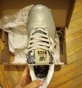 New balance 574 gradient silver