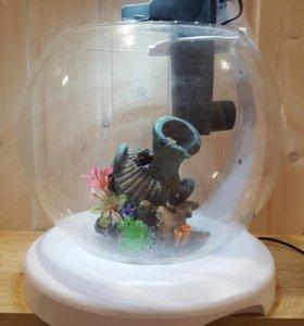 Круглый аквариум Tetra Cascade Globe, белый