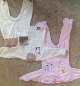 Новый костюм и боди 80 размера для девочки