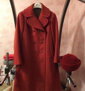 Новое драповое пальто 46-48