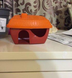 Домик для крысы, хомячка, мышки, + Колесо