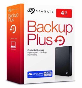 Внешний HDD Seagate Backup Plus 4tb +200gb onedriv