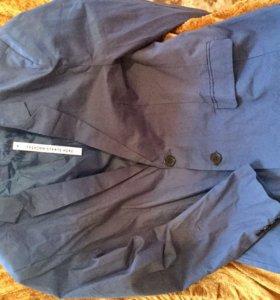 Пиджак новый, р.48-50, Китай, цвет светло синий