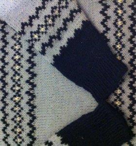 Свитер на мальчика 2-3 лет ручной вязки