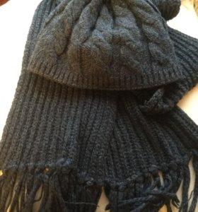 комплект шапка+шарф женский