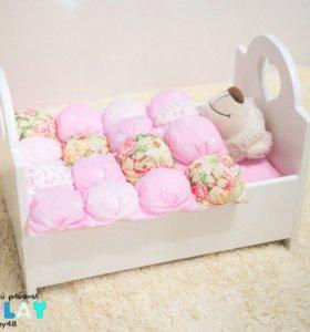 Кроватка для куклы новая
