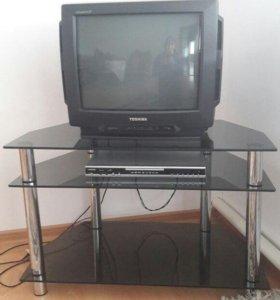 Телевизор, DVD, подставка