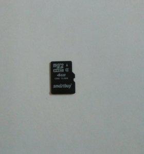 Micro sd 4 gb(новая,не пригодилась)
