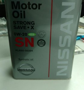 Масло nissan strong save x 0w20