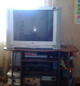 Телевизор видео магнитофон