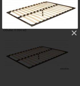 Основание кровати на металлическом каркасе