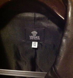 Кожаный пиджак Versace оригинал