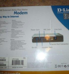 Внешний факс-модем D-Link DFM-562E новый