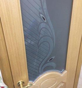 Шпон, межкомнатная дверь