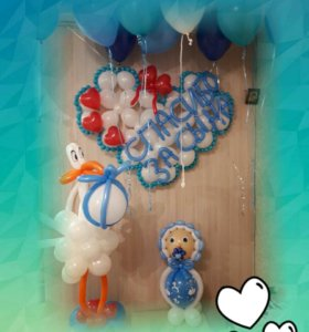 Воздушные шары на выписку