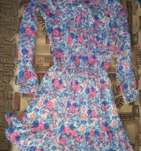 Шифоновое платье фирменное