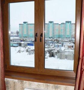 Окна кашированые