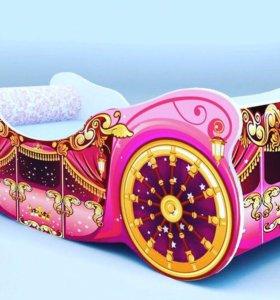 Кровать детская карета люкс новая