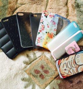 Чехлы iPhone 5s 9 штук