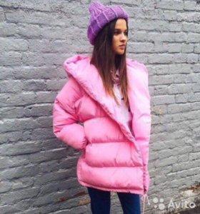 Куртка зефирка розовая