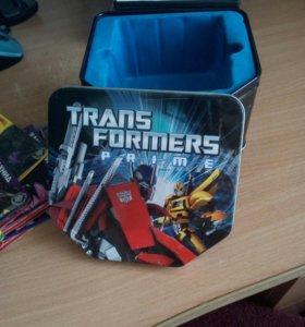 Карточки Transformers prime + коробка жестяная