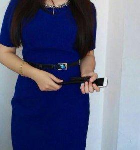 Платье синее 3500.