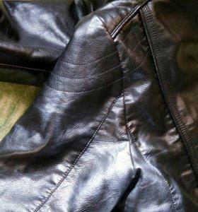 Куртка кожаная димесезонная