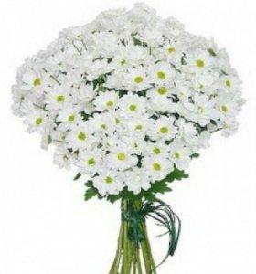 Цветы из хризантем