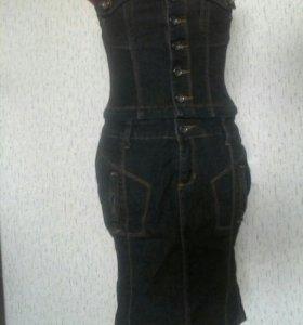 Платье джинсовое, новое