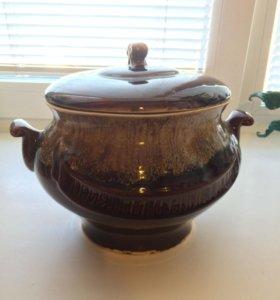 Глиняный горшок для приготовления пищи