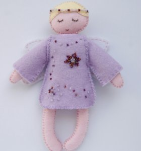 Кукла ангелок из фетра ручная работа