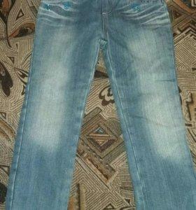 Утепленные джинсы б/у