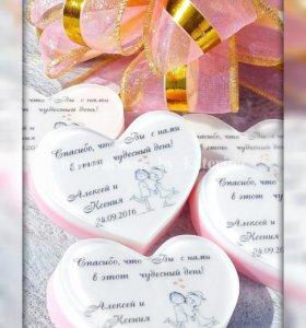 Свадебные подарки гостям (бонбоньерки)