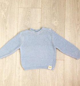 Голубой детский свитер
