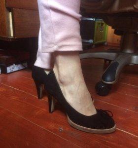 Туфли натуральная замша