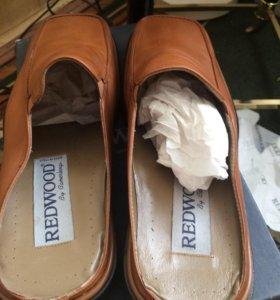 Туфли тап кожаный лето новые Италия