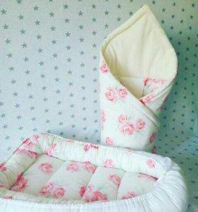 Гнездо кокон и конверт одеяло
