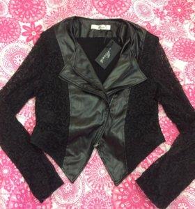 Кружевная куртка-косуха