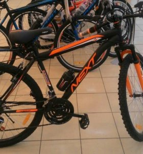 Новый Велосипед горный Next speed18 black/orange
