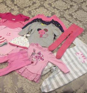 Одежда для девочки 3-6 месяцев