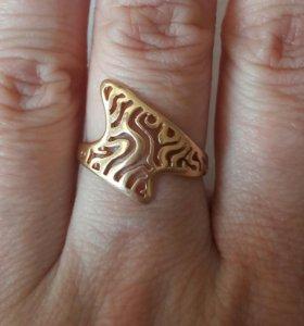 Кольцо золото 585 16 размер