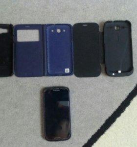 Samsung galaxy s3 dous (с чехлами)