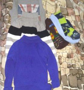 Водолазки для мальчика+ 3 пары колготок в подарок