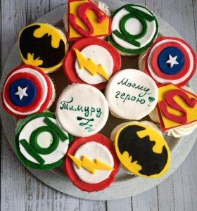 Капкейки на заказ супергерои