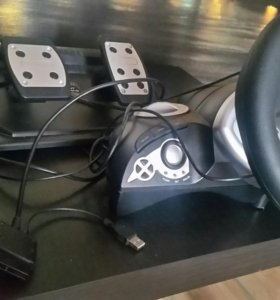 Проводной руль Dialog GW-14 VR для ПК и Soni PS 2