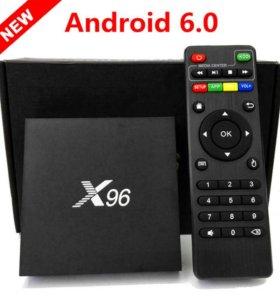 ТВ приставка Смарт TV, X96 TV Box (1/8) 4К