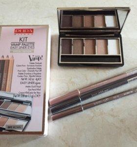 PUPA kit vamp palette easy liner eyes